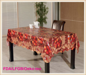 Printed PVC Tablecloths / Vinyl Oilcloth in Roll pictures & photos
