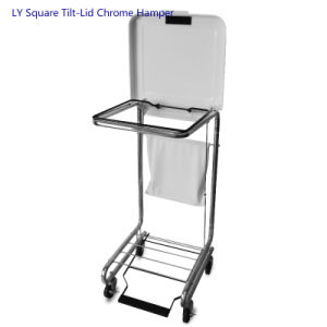 Ly Square Tilt-Lid Chrome Hamper pictures & photos