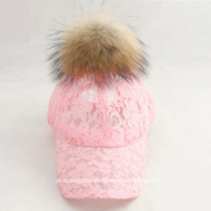 Lace Baseball Pompom Baseball Cap pictures & photos