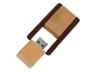 Promotion Gift 8GB Swivel Twister Wooden USB Flash Memory with Certificated pictures & photos