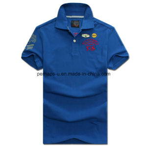 New Design Skinny Printing Men Polo Shirt Embroidered Sports Clothes pictures & photos