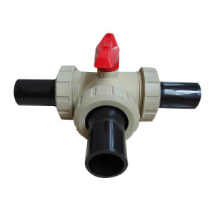 Best Factory New Pph Tee Socket Ball Valve, Industrial Plastic Valve pictures & photos