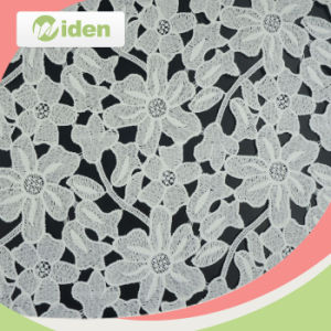 Lace Fabric Market in Dubai Milky Polyester Chemical Lace Fabric pictures & photos
