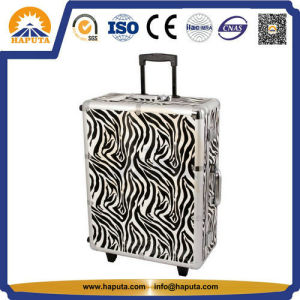 Aluminum Beauty Cosmetic Trolley Case with 6 LED Lights (HB-3501) pictures & photos