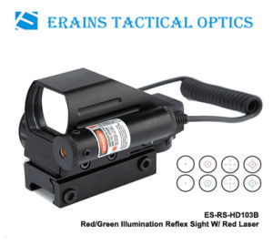 Erains Tac Optics Tactical Reflex Sight with 4 Variable Red DOT Reticles Scope with Red Laser Sight Attached pictures & photos