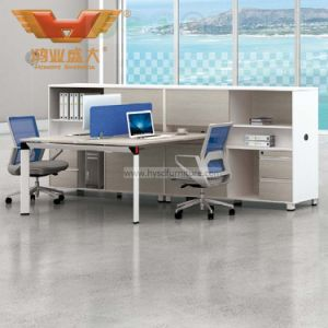 Modern Furniture Melamine Faced Board Office Cubicles Workstation Partition (H50-0215) pictures & photos