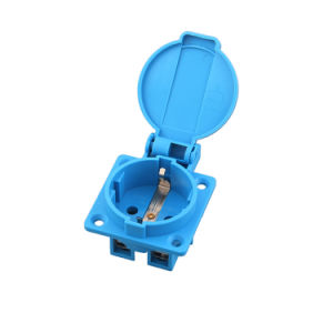 Ce TUV 16A IP44 Waterproof European Euro German Schuko Electrical Power Outlet Socket Receptacle for Industrial Generator Electric Car (050101) pictures & photos