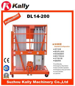 14m Double Mast Vertical Aluminum Alloy Boom Lift (DL14-200) pictures & photos