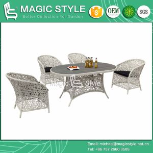 Outdoor Dining Set Rattan Chair Wicker Table Patio Furniture Dining Chair Garden Furniture (Magic Style) pictures & photos