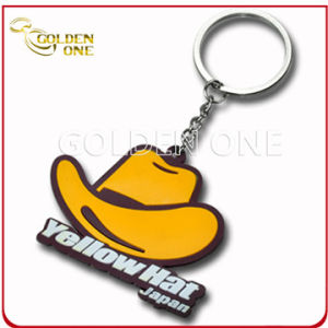 Fshion Yellow Hat Offset Printing Soft PVC Key Ring pictures & photos
