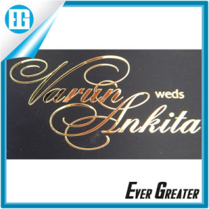 Custom Electroform Chrome Metal Label Sticker with Adhesive pictures & photos