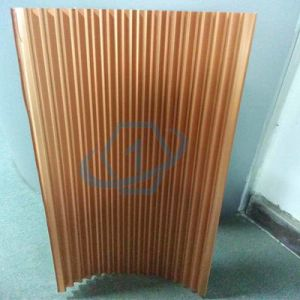 Onebond Yellow Color Aluminum Corrugated Core pictures & photos