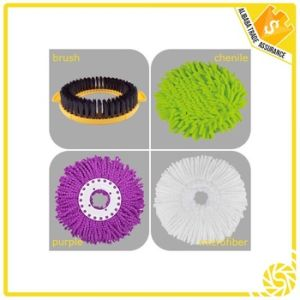 Wholesale Price Yellow Green Microfiber Material Roto Mop pictures & photos