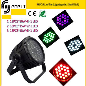 18*10W 4in1/5in1/6in1 LED Waterproof IP65 PAR Light for Outdoor pictures & photos