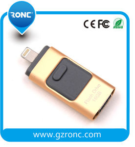 Wholesale Custom 32GB OTG USB Flash Drive for iPhone pictures & photos