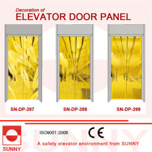 St. St Golden Door Panel for Elevator Cabin Decoration (SN-DP-397) pictures & photos