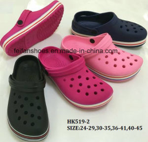High Quality EVA Garden Shoes Beach Shoes Slipper Shoes (HK519-2) pictures & photos
