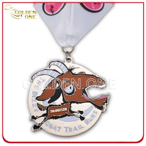 Custom Metal Stamped Goat Trail Run Medal pictures & photos