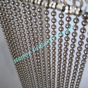Dazzling 10mm Silver Beads Hanging Room Divider
