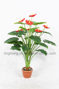 Home Decoration Artificial Plant with 24 Leaves and 7 Flowers
