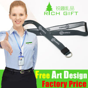 Custom Logo Printed Nylon Lanyard with Metal Ring for Sports pictures & photos