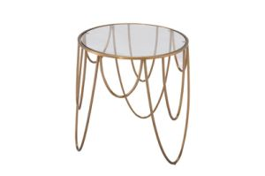 Stainless Steel Metal Tea Table with 10mm Thickness Round Marble Top pictures & photos