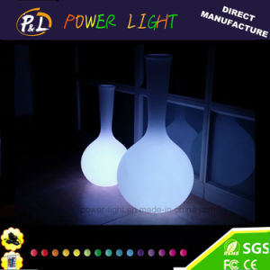 Home Decorative Plastic LED Lighted Flower Vase pictures & photos