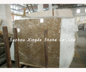 Commercial Light Coffee Marble Slab