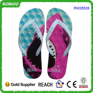 Wholesale Funny Ptinting Lady Beautiful Flip Flop (RW28528)
