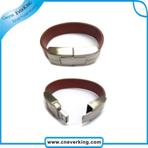 Fashion Leather Wristband USB Flash Drive pictures & photos