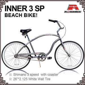 26 Inch Inner 3 Speed Beach Cruiser Bicycle (ARS-2619S-1) pictures & photos