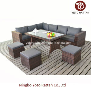 Outdoor Furniture Rattan Sofa with Table (1204) pictures & photos