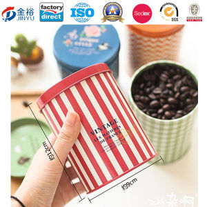 Round Shaped Metal Food Container for Coffee Tea Packaging pictures & photos