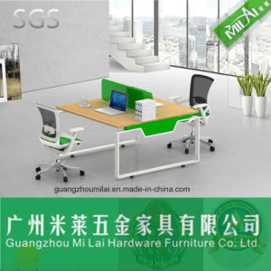Morden Home Office Furniture Wooden Computer Table with Metal Frame pictures & photos