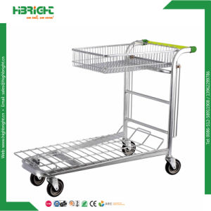 Building Material Stores Platform Heavy Duty Foldable Warehouse Trolley pictures & photos