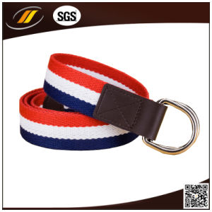 Wholesale Men′s D Ring Webbing Braided Belt (HJ1023)