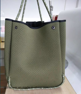 Perforated Neoprene Beach Tote Bag with Rope pictures & photos