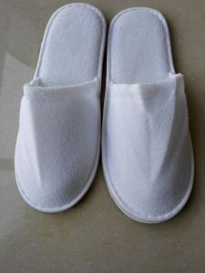Velvet Terry Hotel Slippers with Customer Logo pictures & photos