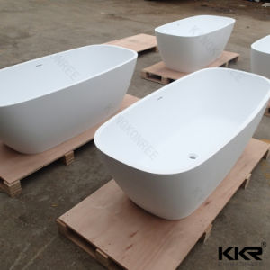 Solid Surface Egg Shape Free Standing Bathtub pictures & photos
