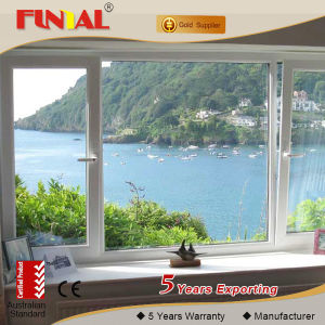 Australia Double Tempered Glass Aluminum Window pictures & photos