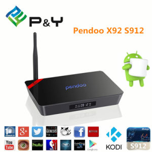 P&Y Pendoo X92 Android TV Box Octa Core S912 CPU Android L 6.0 Marshmallow Smart TV Box pictures & photos