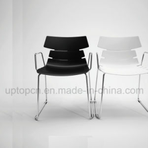 Wholesale Color Customizable Plastic Chair with Chrome Steel Sled Leg (SP-UC493) pictures & photos