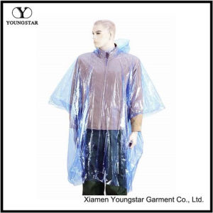 PE Transparent Lightweight Rain Poncho / PE Motorcycle Raincoat pictures & photos