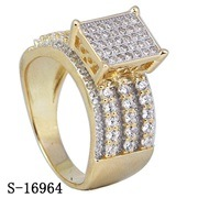 Sterling Silver American 14k Plated Cubic Zirconia Rings pictures & photos