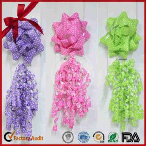 Gift Wrapping Curing Ribbon and Star Bow Christmas Decoration pictures & photos