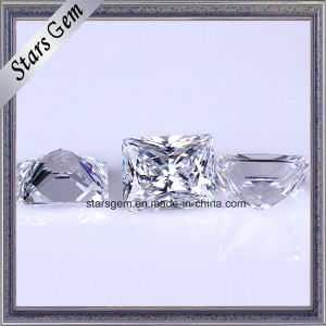 Synthetic Gemstones Baguette 12X10mm White Cubic Zirconia pictures & photos