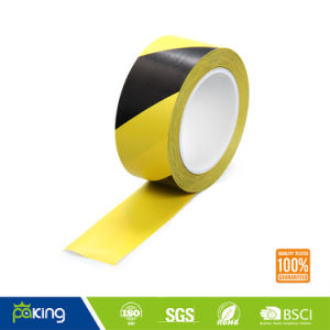 Standard Printed Self Adhesive Black Yellow Warning Tape pictures & photos