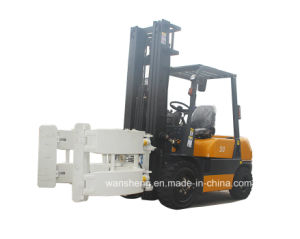 Best Price 3 Ton Diesel Forklift Truck with Paper Roll Clamp pictures & photos