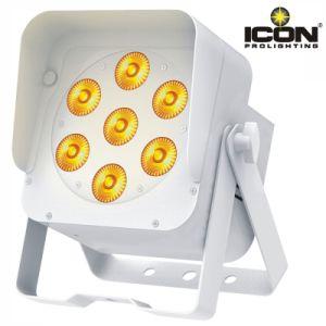7X15W RGBWA UV 6in1 LEDs Flat PAR Light pictures & photos