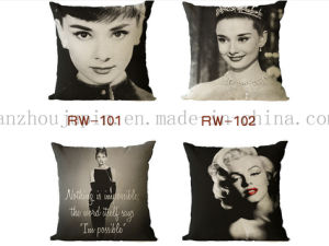 Custom Print Linen Bolster Pillow Cushion for Promotion pictures & photos